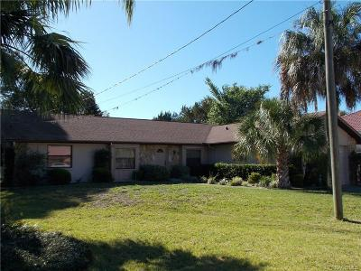 Crystal River Single Family Home For Sale: 9150 W Harbor Isle Court