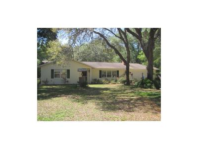 Crystal River Single Family Home For Sale: 8770 N Maple Avenue
