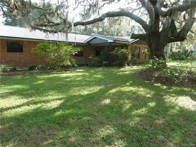 Homosassa Single Family Home For Sale: 5598 W Cardinal Street