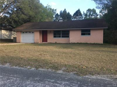 Floral City Single Family Home For Sale: 7734 E Spanish Trail