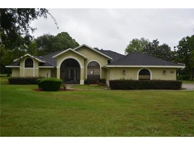 Hernando Single Family Home For Sale: 1351 N Man O War Drive