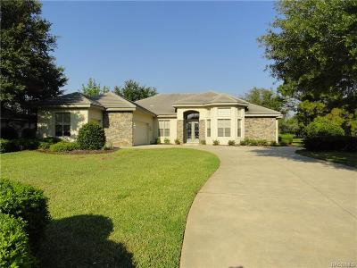 Lecanto Single Family Home For Sale: 3073 W Shadow Creek Loop