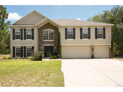 Citrus Springs Single Family Home For Sale: 2791 W Naegelia Place