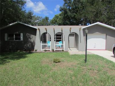 Crystal River Single Family Home For Sale: 841 N Hollywood Circle