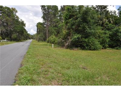 Inglis Residential Lots & Land For Sale: 10680 SE 201st Street