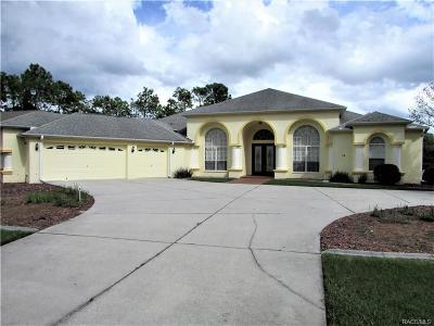 Sugarmill Woods Single Family Home For Sale: 12 Gingerwood Drive