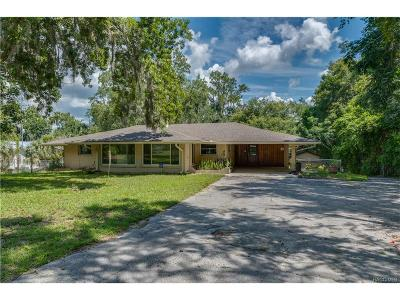 Homosassa, Dunnellon Single Family Home For Sale: 5817 W Riverbend Road