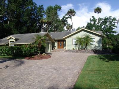 Homosassa Single Family Home For Sale: 4203 S Purslane Drive