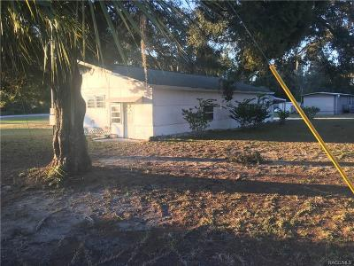 Homosassa Single Family Home For Sale: 5408 S Suffolk Terrace