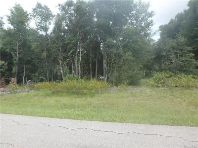 Citrus County Residential Lots & Land For Sale: 3985 E Delight Street
