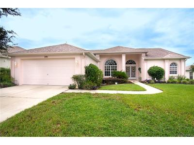 Lecanto Single Family Home For Sale: 5741 W Hunters Ridge Circle