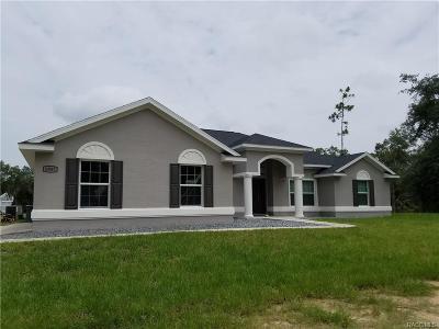 Citrus County Single Family Home For Sale: 9937 W Tom Mason Drive