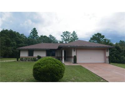 Hernando FL Single Family Home For Sale: $139,900