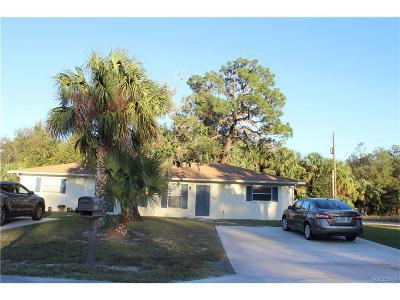 Homosassa Multi Family Home For Sale: 4063 S Hazelton Terrace
