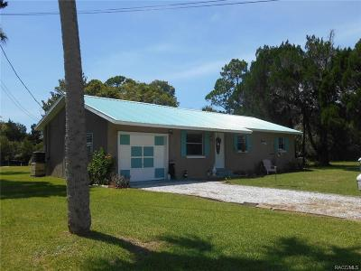 Levy County Single Family Home For Sale: 4 Palm Drive