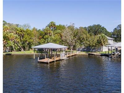 Homosassa, Dunnellon Single Family Home For Sale: 10484 W Halls River Road
