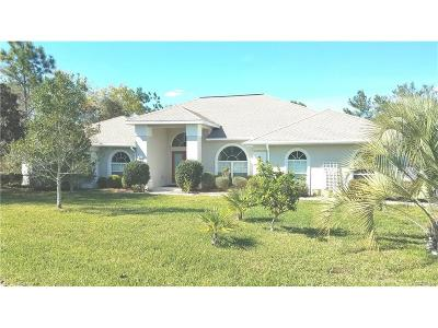 Homosassa FL Single Family Home For Sale: $269,500
