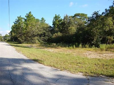 Citrus County Residential Lots & Land For Sale: 1309 W Plum Place