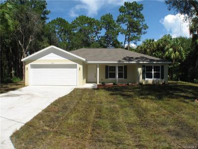 Crystal River Single Family Home For Sale: 5845 N Brookgreen Drive