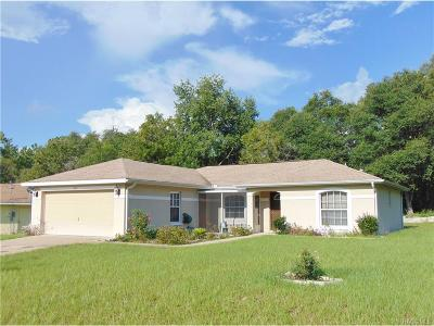 Citrus Springs Single Family Home For Sale: 5876 N Claremont Drive