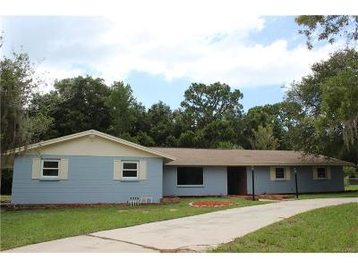 Crystal River FL Single Family Home For Sale: $149,000