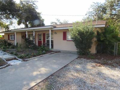 Crystal River Single Family Home For Sale: 3784 N Hiawatha Terrace