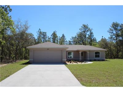 Citrus Springs Single Family Home For Sale: 1295 W Sorrento Drive