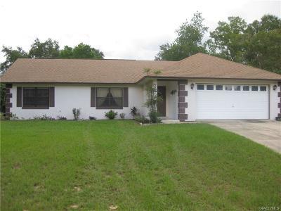 Citrus Springs Single Family Home For Sale: 11365 N Brenda Terrace
