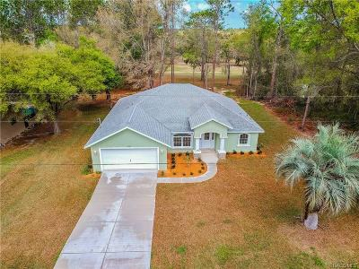 Citrus Springs Single Family Home For Sale: 2245 W Dolphin Drive