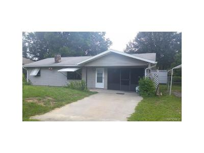 Crystal River Single Family Home For Sale: 1135 N Fan Palm Point