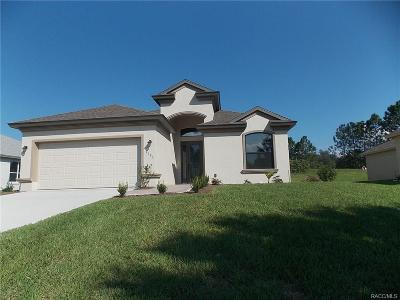 Lecanto Single Family Home For Sale: 2395 N Brentwood Circle