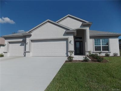 Lecanto FL Single Family Home For Sale: $312,368