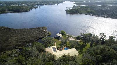 Homosassa, Dunnellon Single Family Home For Sale: 12451 The Homosassa River