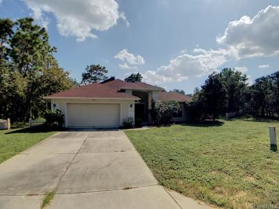 Homosassa Single Family Home For Sale: 17 Milbark Drive