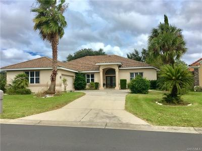 Hernando Single Family Home For Sale: 179 W Mickey Mantle Path