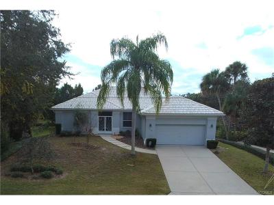 Homosassa Single Family Home For Sale: 11762 W Waterway Drive