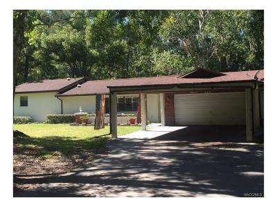 Homosassa Single Family Home For Sale: 8869 W Spring Cove Road