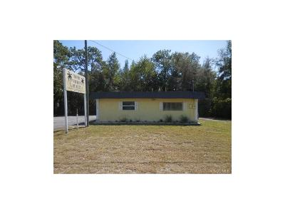Homosassa, Dunnellon Commercial For Sale: 7536 W Grover Cleveland Boulevard
