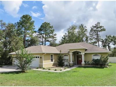 Homosassa Single Family Home For Sale: 5640 W Chive Loop
