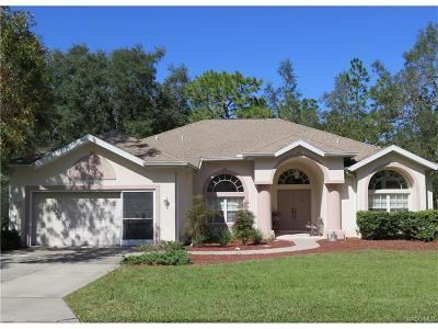 Homosassa Single Family Home For Sale: 86 Linder Drive