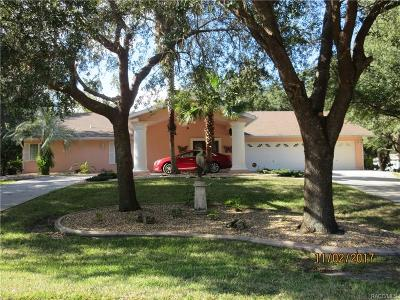 Homosassa, Dunnellon Single Family Home For Sale: 4724 S Myrtle Way