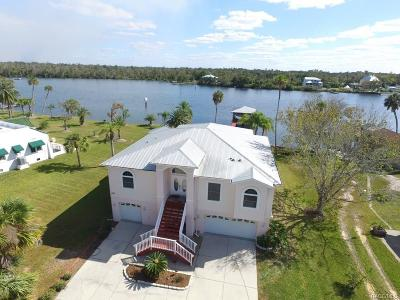 Homosassa, Dunnellon Single Family Home For Sale: 11034 W Halls River Road