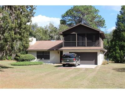 Crystal River Single Family Home For Sale: 7705 N Brahma Terrace