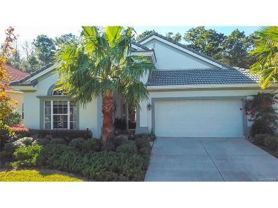 Hernando Single Family Home For Sale: 1164 N Hunt Club Drive