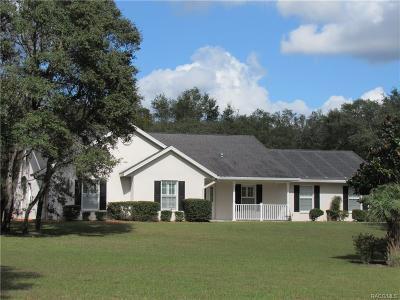 Hernando Single Family Home For Sale: 1015 E Morningstar Lane
