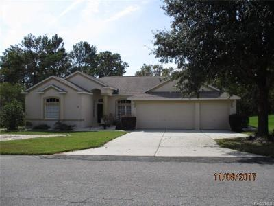 Homosassa Single Family Home For Sale: 8 Poppy Street
