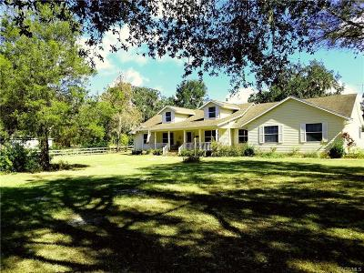 Inverness Single Family Home For Sale: 4353 S Old Floral City Road