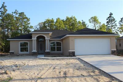 Citrus Springs Single Family Home For Sale: 2858 W Lambert Drive