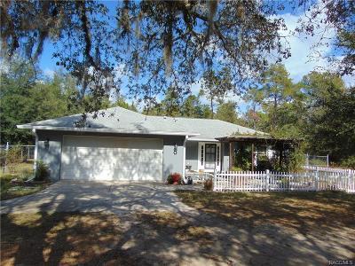 Hernando Single Family Home For Sale: 1719 E Humphrey Lane