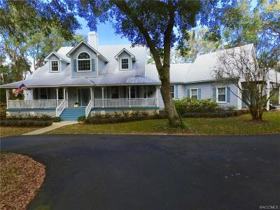 Crystal River Single Family Home For Sale: 10700 N Sunflower Point